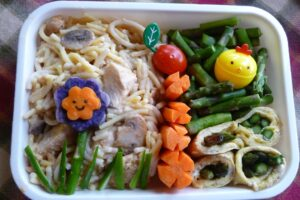 Chicken Tetrazini with veggies