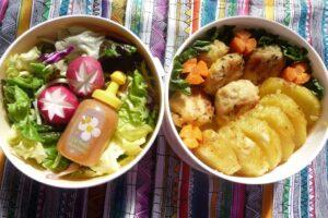 2 Yummy bento salads