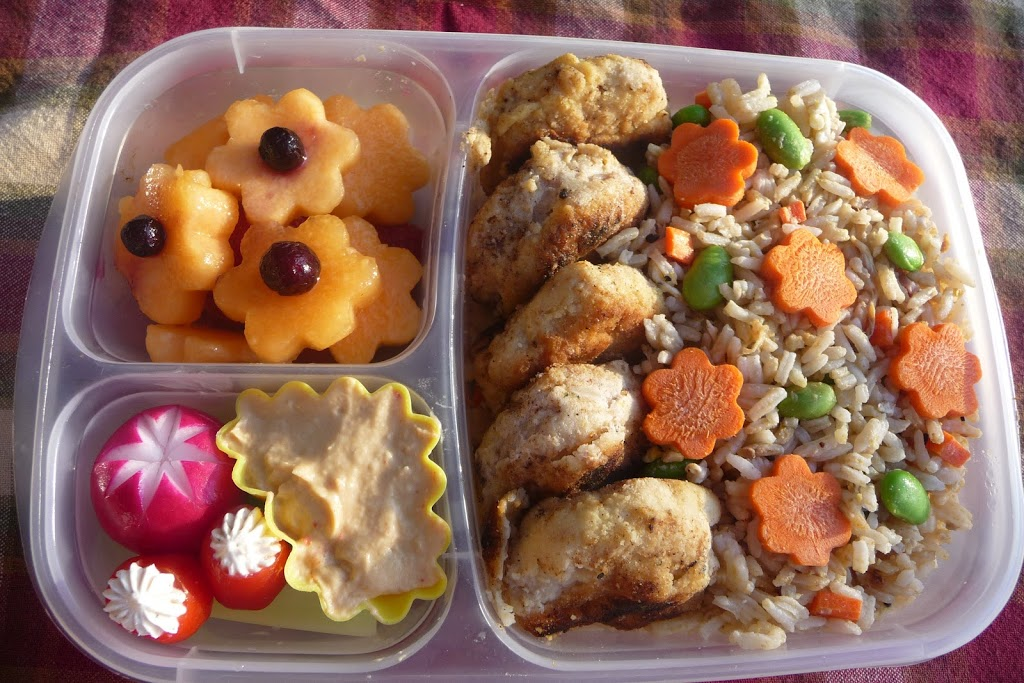"Chicken Bento vs. ""Chicken Dunks Lunchable"""
