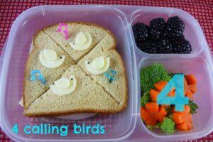 4 Calling Birds Bento