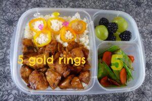 5 Gold Rings Bento
