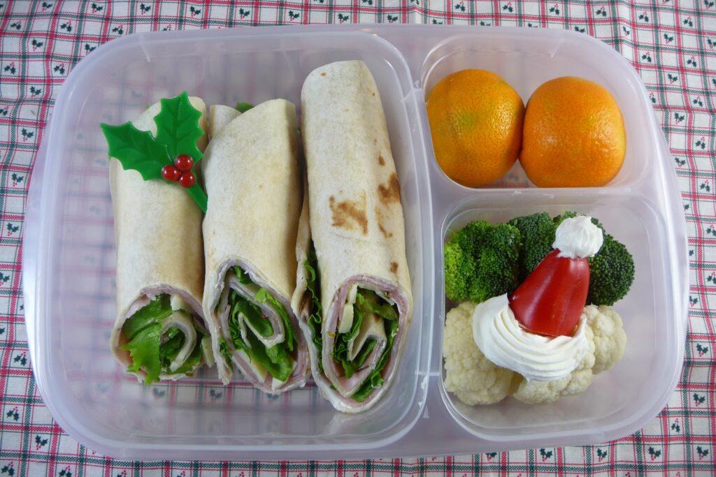 Holly Jolly Sandwich Wrap Bento