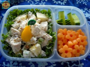 Chicken Salad and Cantaloupe Bento