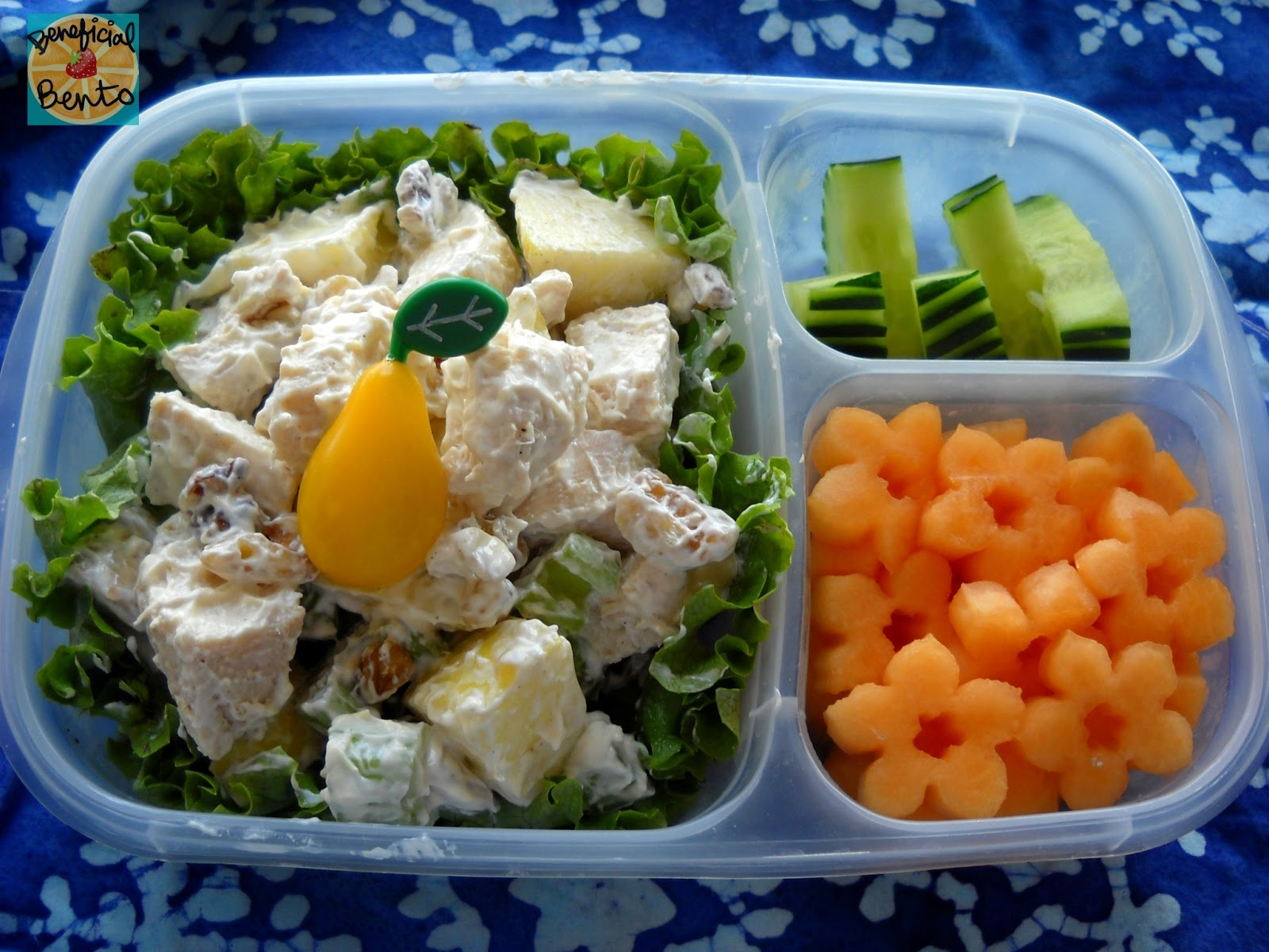 chicken Salad and Cantaloupe flowers
