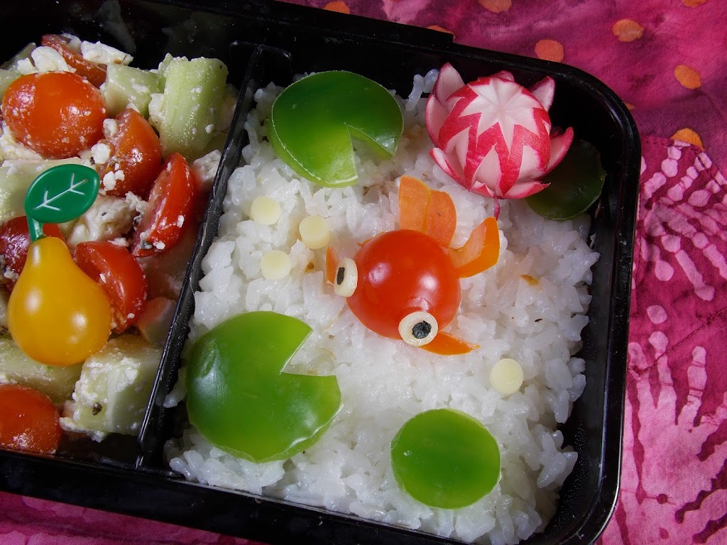 Goldfish and Water Lily Bento