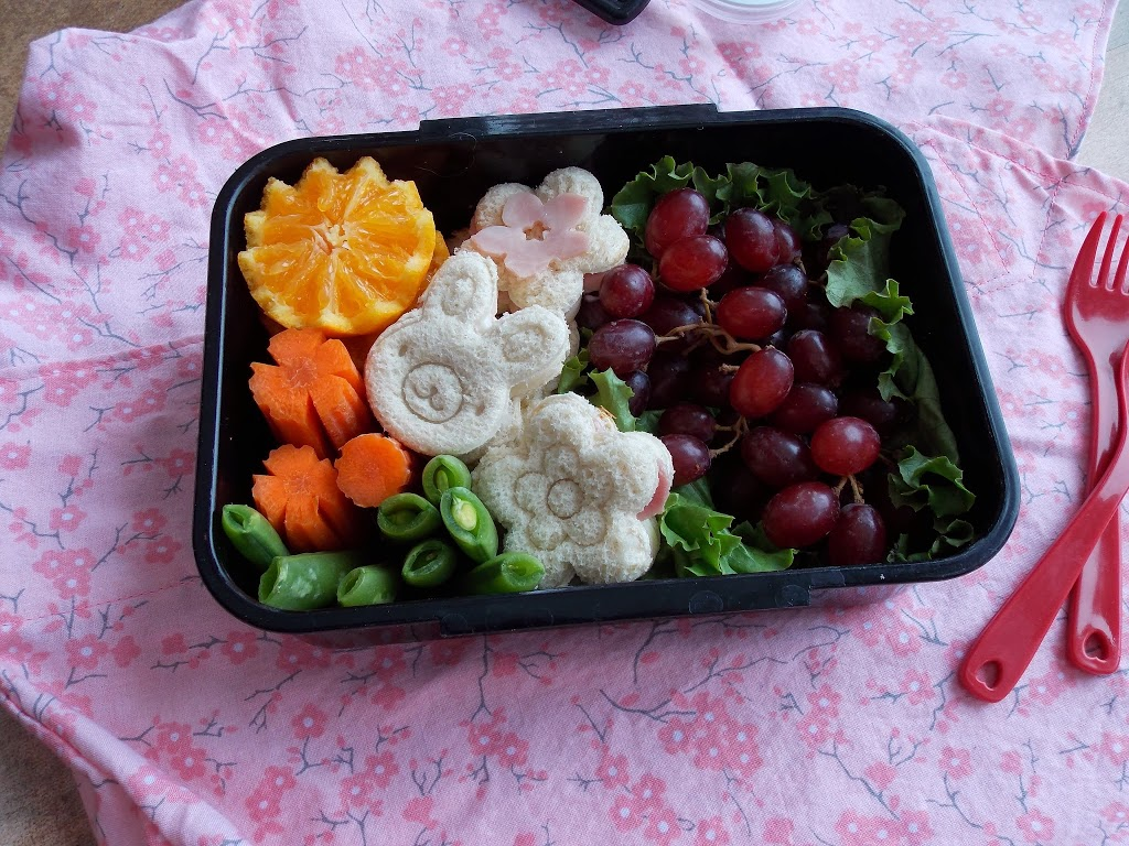 Bunny and Flower Sandwich Bento