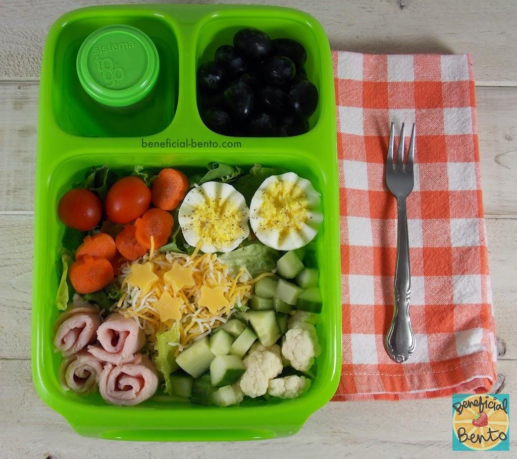 chef salad bento in a goodbyn hero beneficial bento. Black Bedroom Furniture Sets. Home Design Ideas
