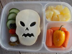 Spooky Skeleton Sandwich Bento