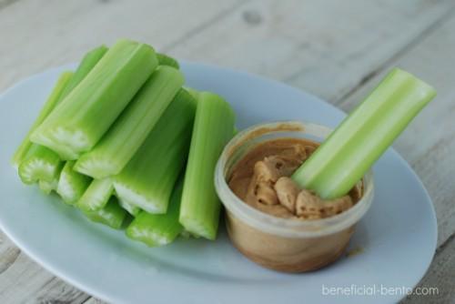 10 healthy snacks, celery and PB