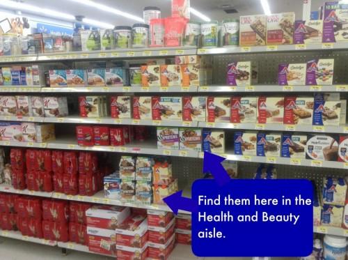 v-8 store shelf
