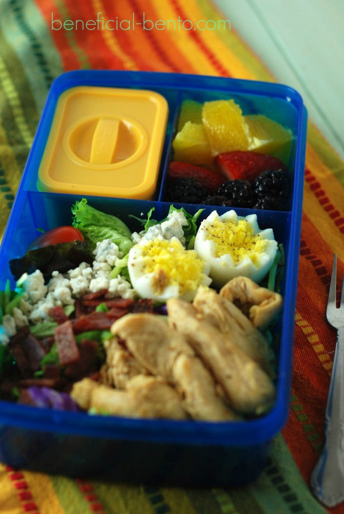 chef salad with chicken and bacon beneficial bento. Black Bedroom Furniture Sets. Home Design Ideas
