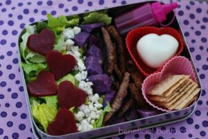 Heart Beet Salad for Valentine's Day