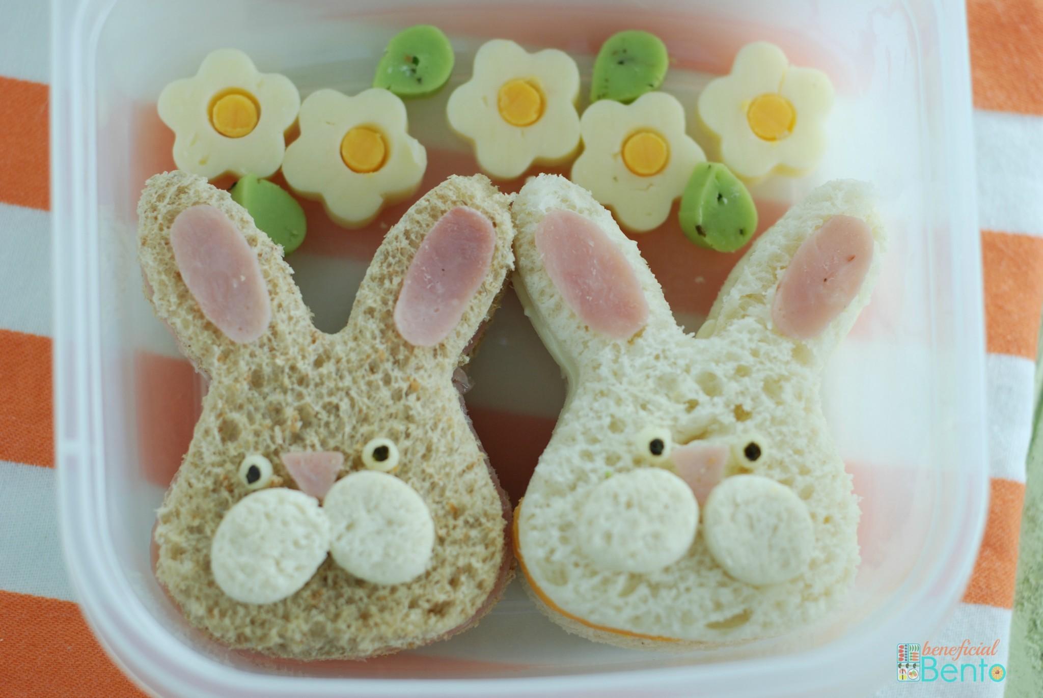 fun Easter food, spring, bunnies