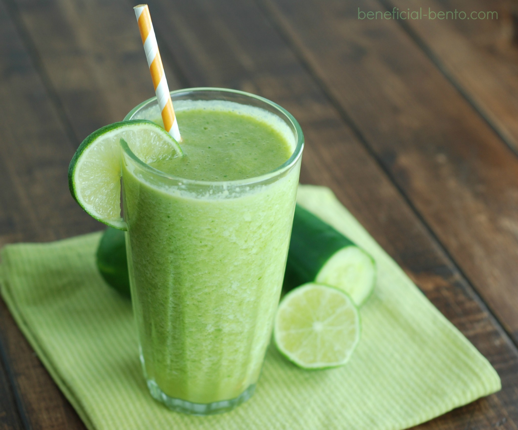 this smoothie is so packed with nutrients! The green veggie taste is tamed with coconut milk, lime, and pineapple. It's so sweet, and gives you a huge burst of energy when you drink it!
