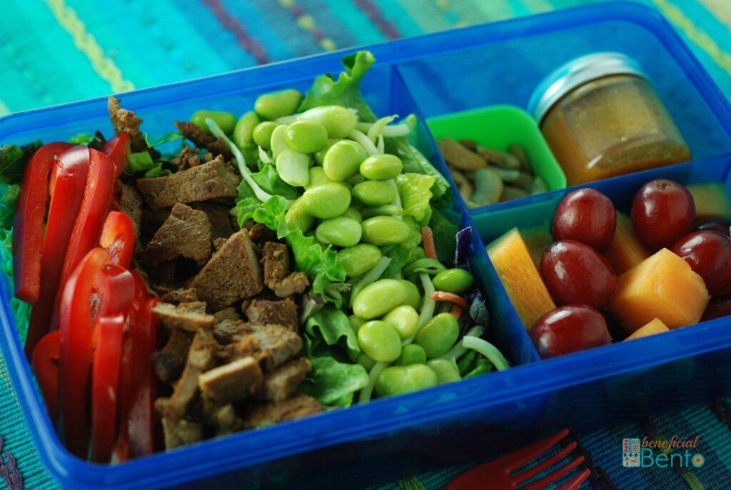 Beef and Edamame Salad Bento