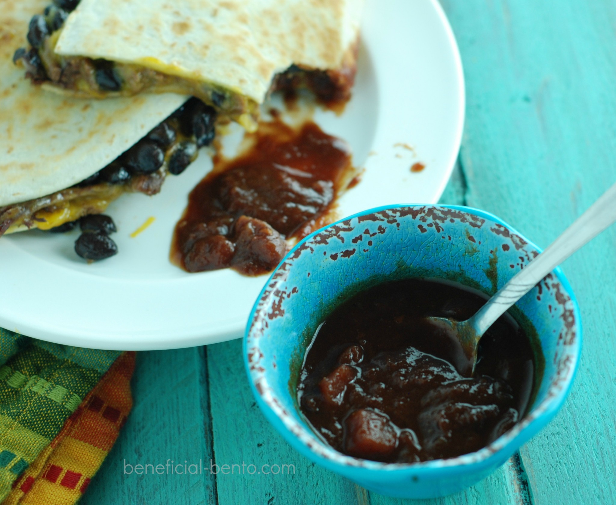 that dip!! It's the best thing for a beef and bean quesadilla!