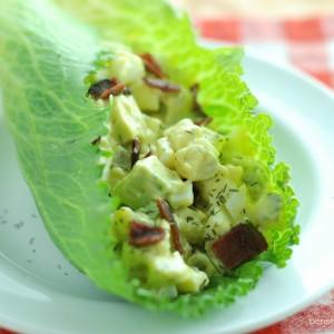Avocado Egg Salad with Bacon
