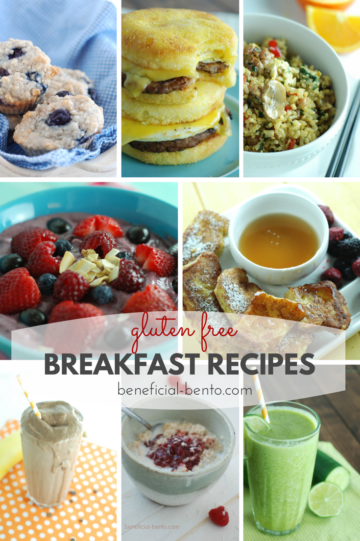 gluten free breakfast recipes - some great ideas when you're stuck for what to eat!