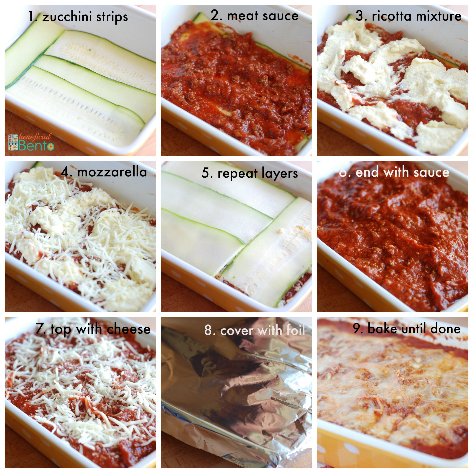 Low Carb Zucchini Lasagna Beneficial Bento