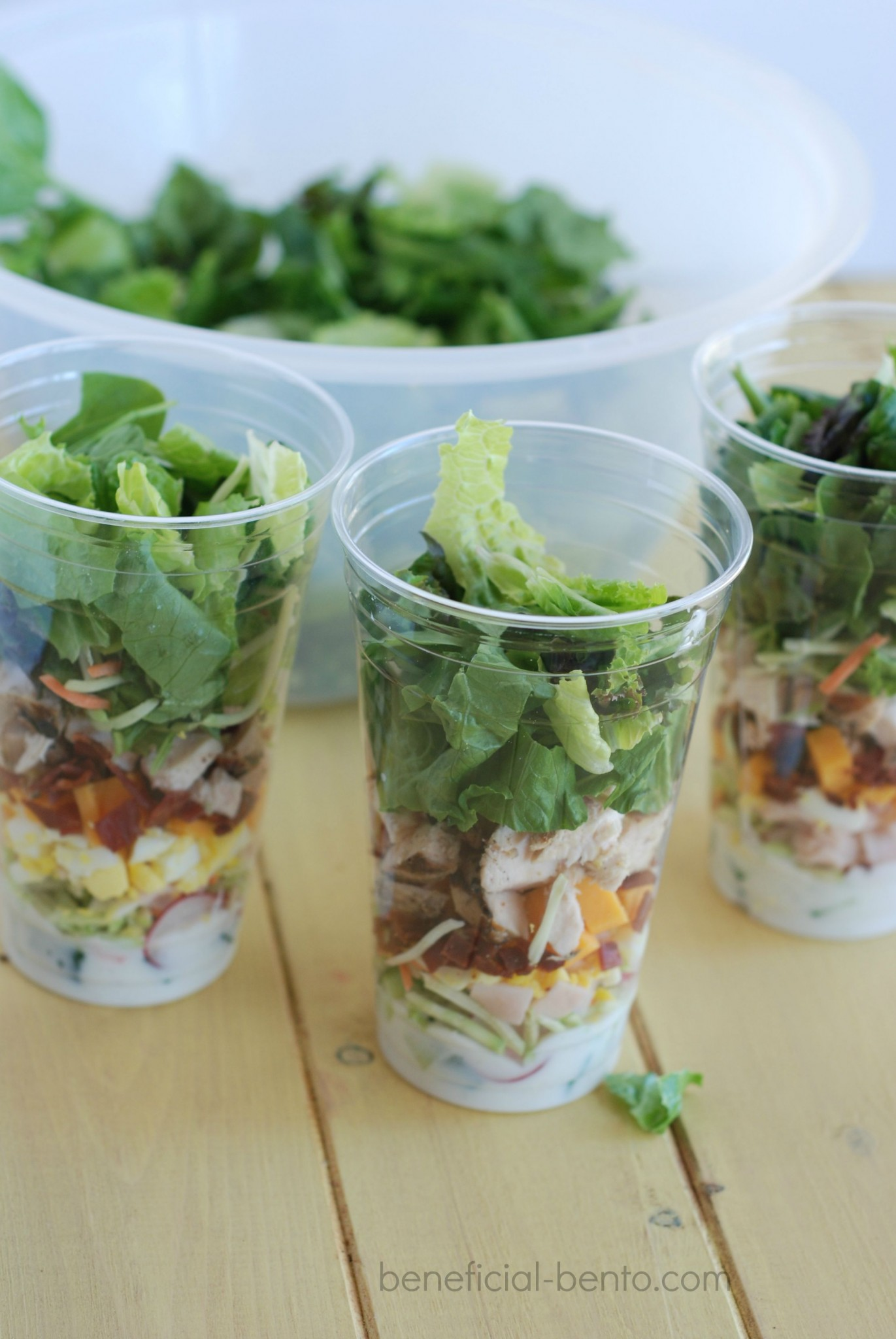 salad cups - the lightweight, easy, PORTABLE, mason jar salad!
