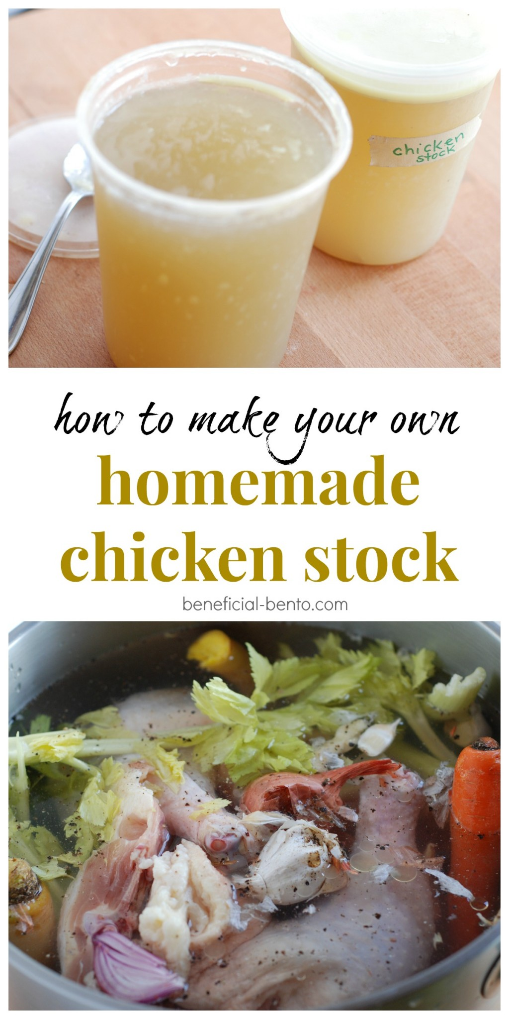how to make your own chicken stock - its easier than you probably think, and makes soup recipes 100 times better!