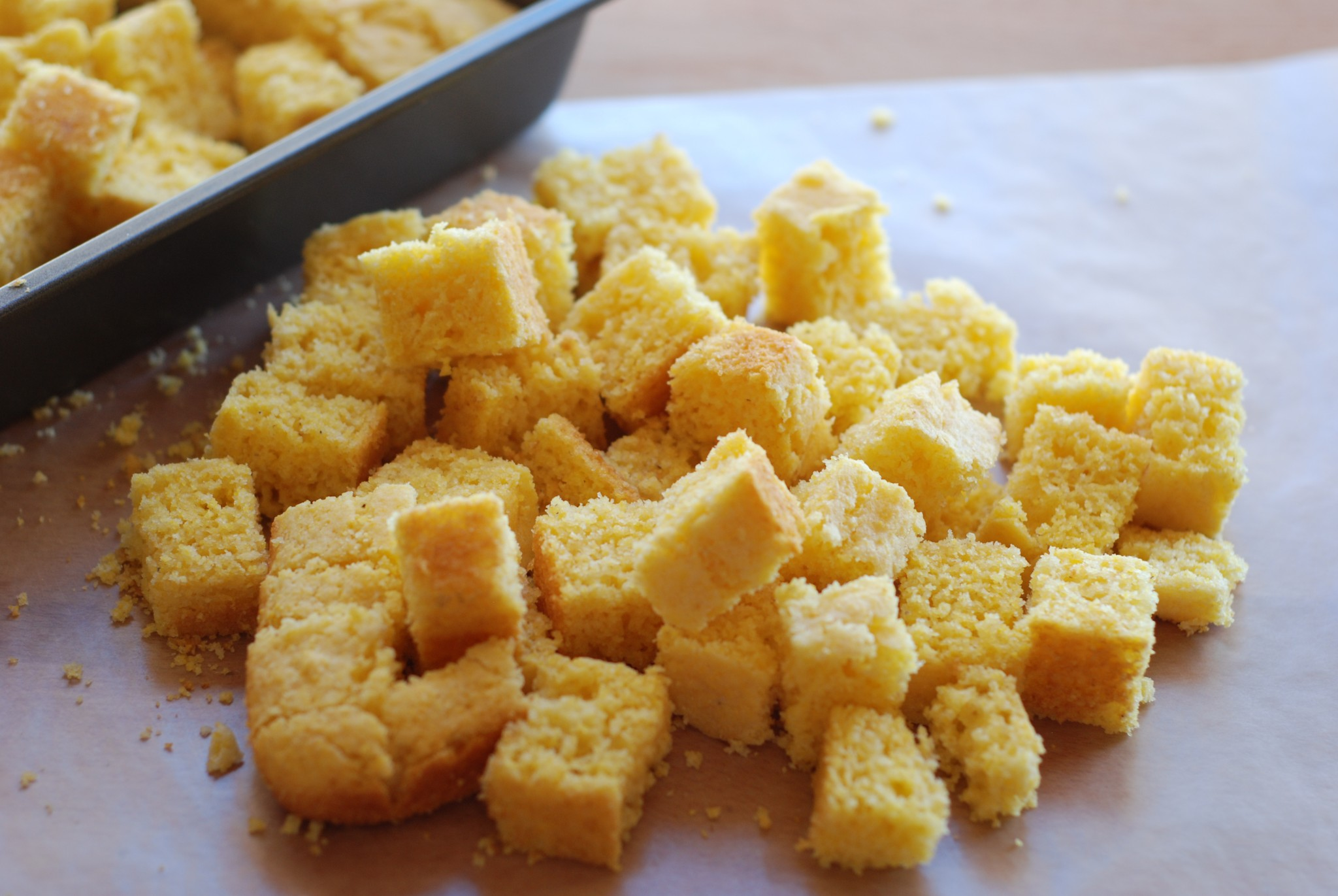 delicious gluten free cornbread is both sweet and savory - perfect for Thanksgiving stuffing!