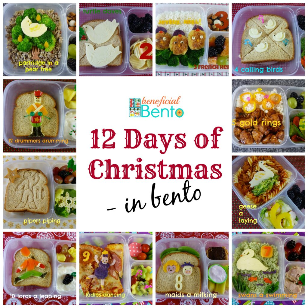 The 12 Days of Christmas in Bento
