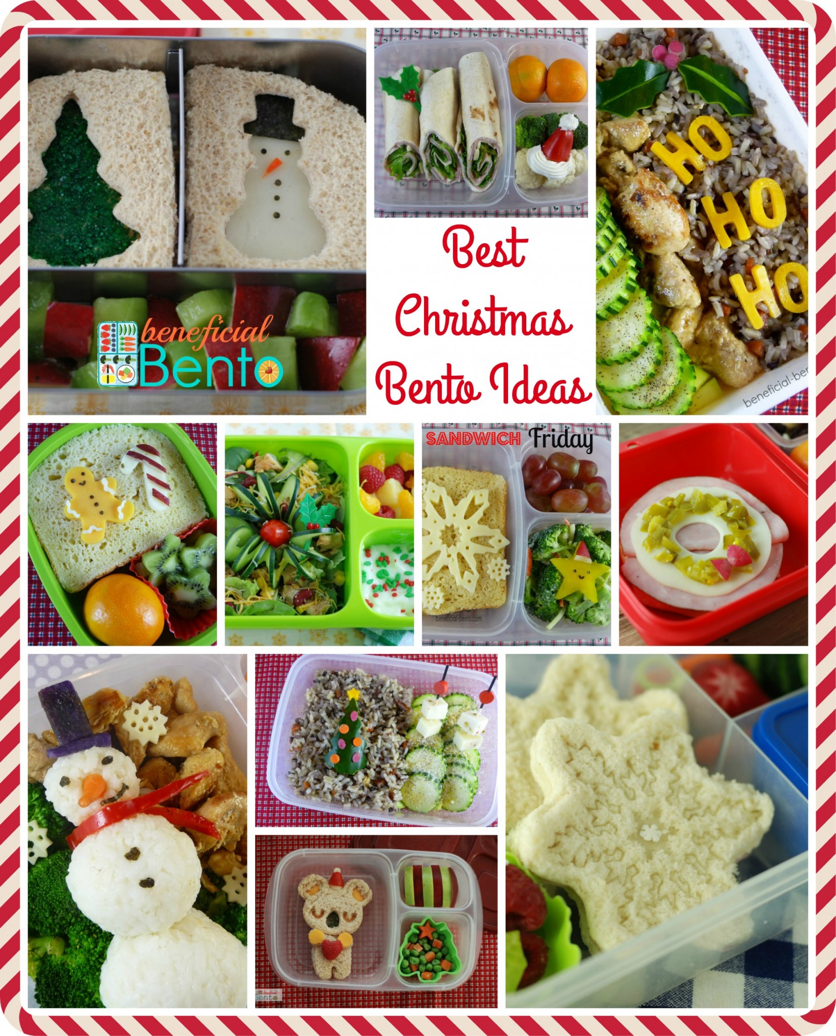 Best christmas bento ideas beneficial bento these are some great ideas for making healthy food look fun for christmas forumfinder Gallery