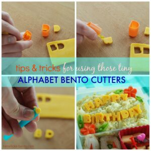Tips and Tricks for Using Alphabet Bento Cutters