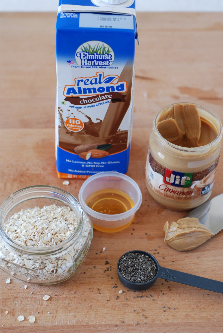 This is so good! Made with chocolate almond milk and cinnamon peanut butter, and it's gluten free, too!