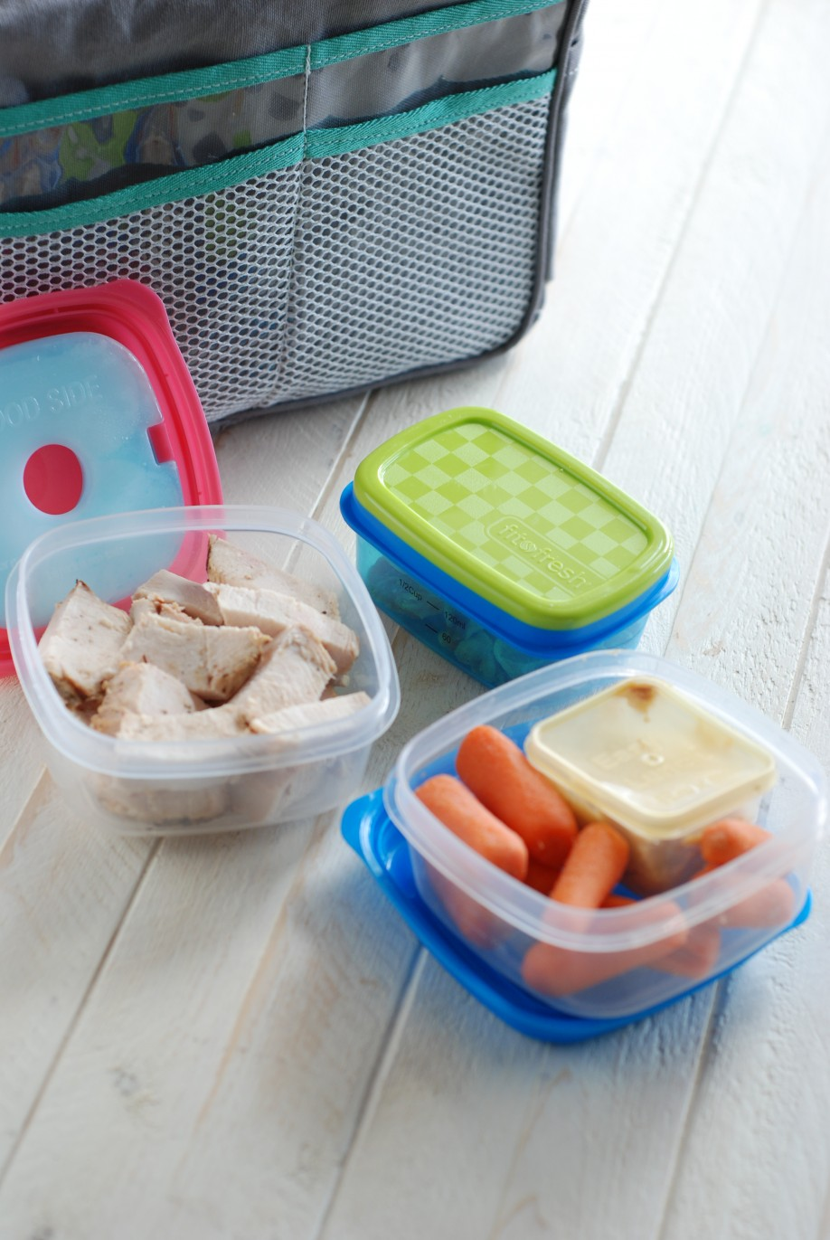 Fit & Fresh containers and my Cooler Purse Organizer are the perfect combo for daily food prep!