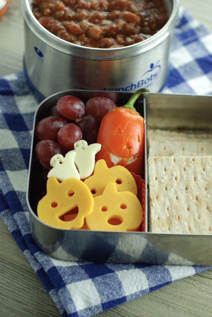 Healthy Bistro Box with Ghosts and Pumpkins