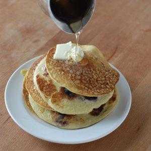 Gluten Free Banana Protein Pancakes