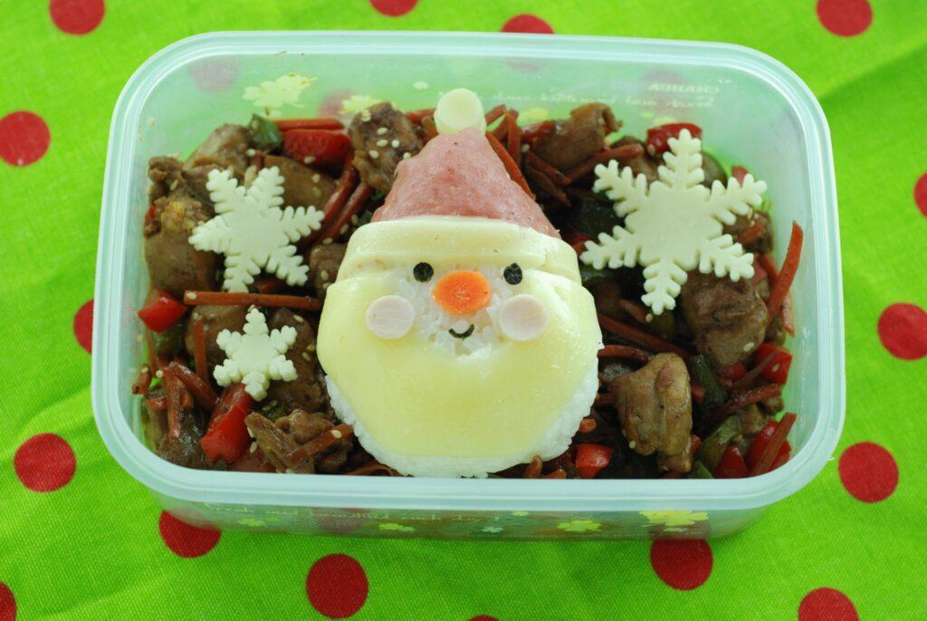 Santa Rice Ball Bento
