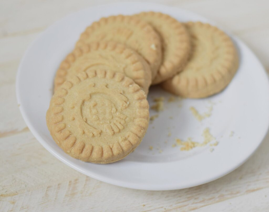This is a picture of Walkers shortbread cookies. Read more at beneficial-bento.com