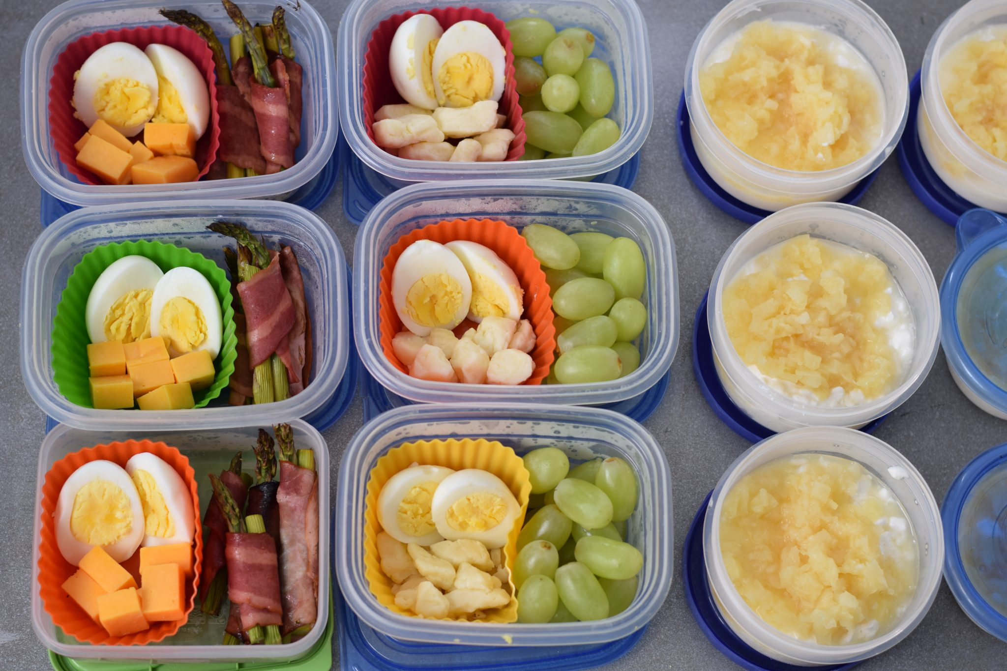 this is a picture of how I do food prep for snacks. More info at beneficial-bento.com