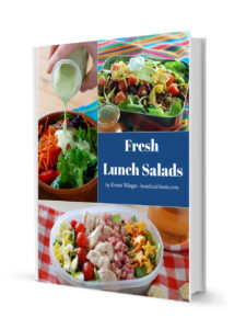 This is a picture of Fresh Lunch Salads recipe book. Buy it at beneficial-bento.com