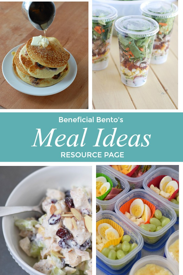 This is a picture collage of Meal Ideas from beneficial-bento.com