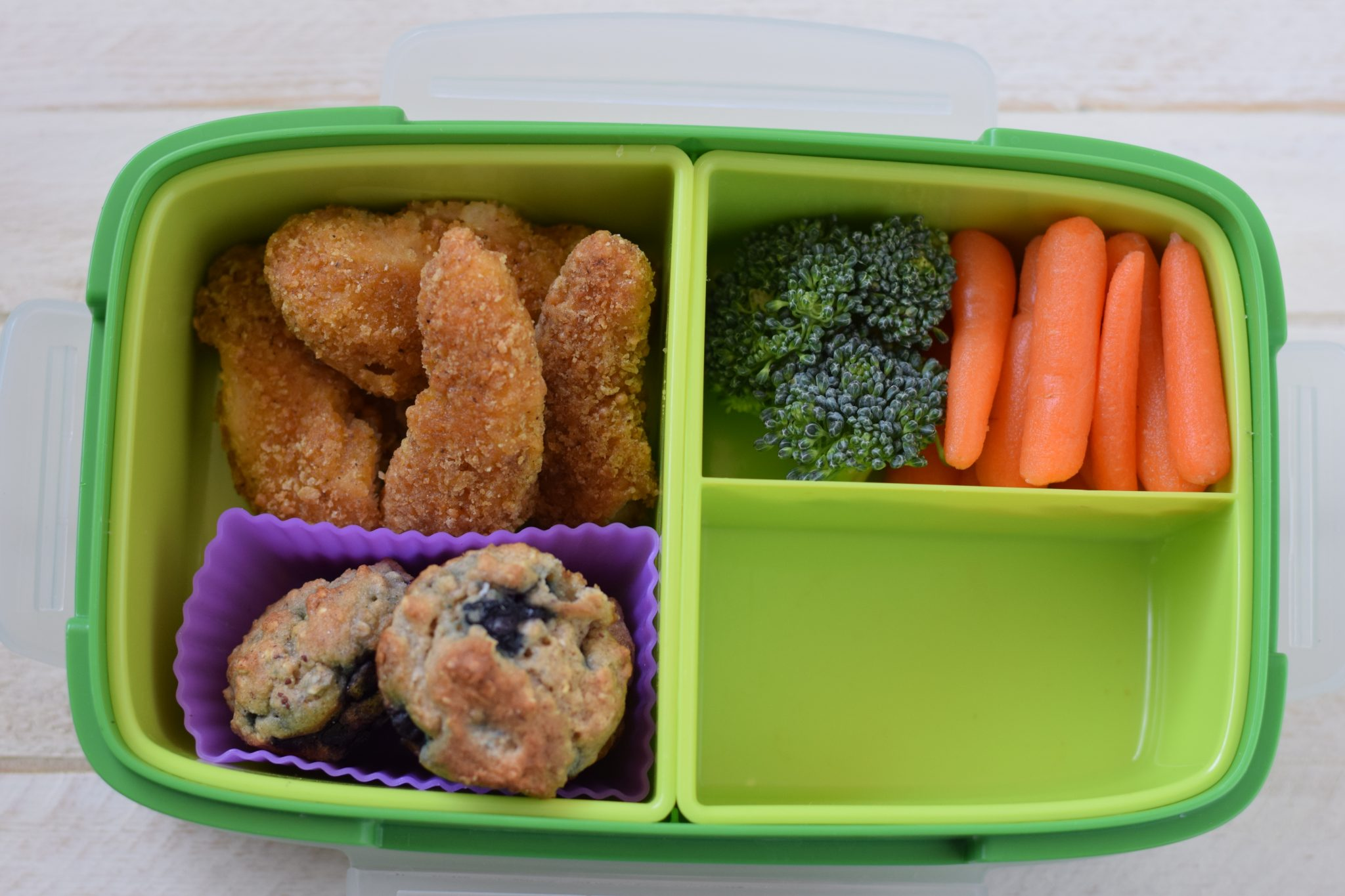 this is a picture of step 2 of how to make a healthy bento box. Details at beneficial-bento.com