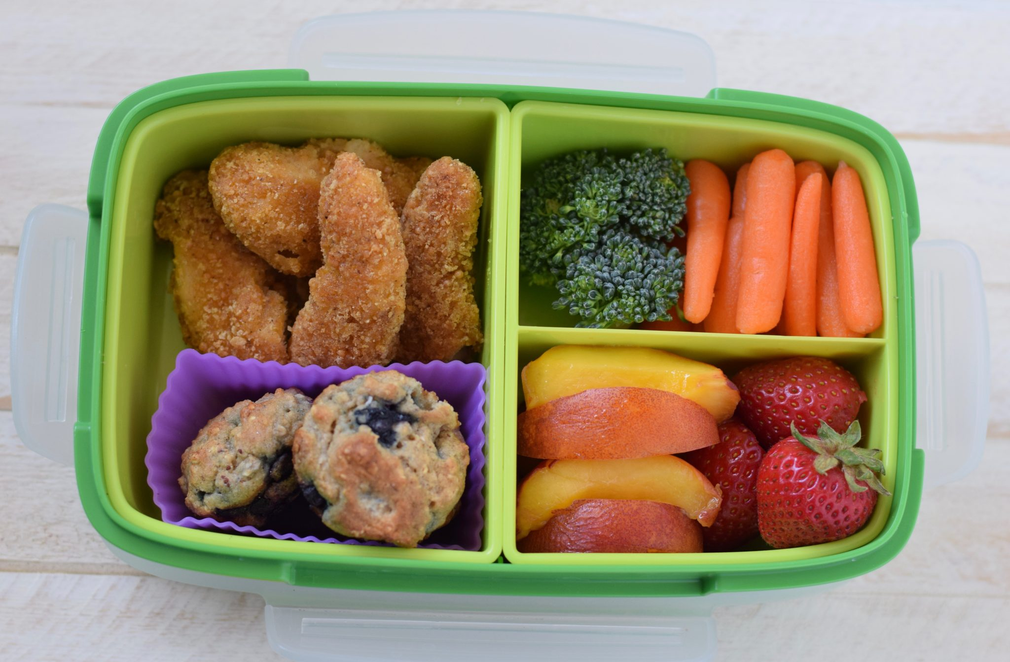 this is a picture of step 3 of how to make a healthy bento box. Details at beneficial-bento.com