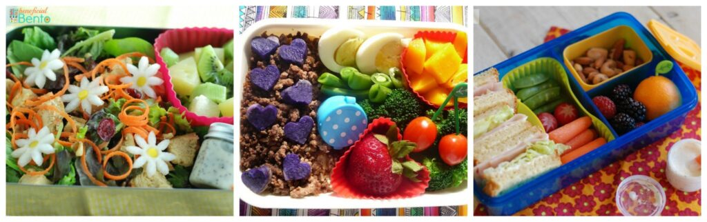 Packing food in tightly is one of the secrets to making a bento look great. Learn more at beneficial-bento.com